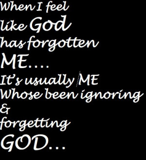 Did You Forget About Me? Faith