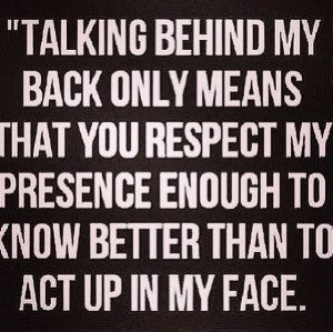 Talking Behind My Back