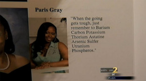 ... was discovered what her Yearbook quote, pictured here, actually meant
