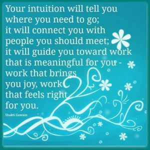 so trust your inner goddess ;)
