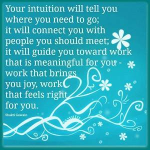 so trust your inner goddess ;)