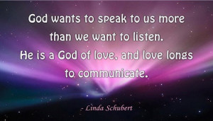 Love – Trust – Listen The Holy Spirit and you