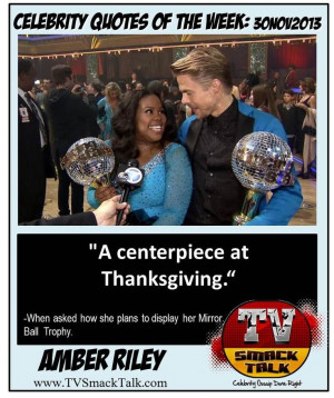 AMBER RILEY - Celebrity Quotes of the Week: 30NOV2013 #amberriley