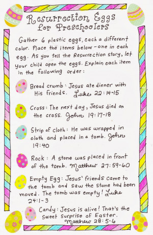 Resurrection Eggs Story