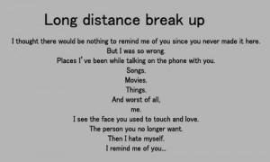 Long Distance Break Up Quotes