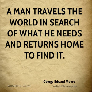 George Edward Moore Travel Quotes