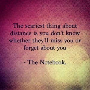 The Scariest thing about distance is You Don't Know Whether they ...