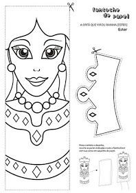 Loads of resources for Queen Esther ... Puppets, color sheets, crowns ...