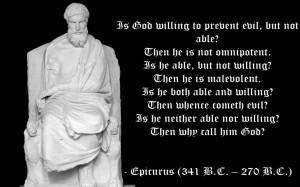 Religious Epicurus quotes statement text statue wallpaper background