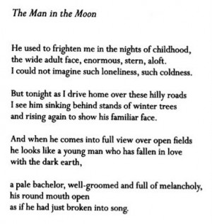 ... , Quotes, Art Inspiration, Billy Collins, Poets Poetry, Man, The Moon