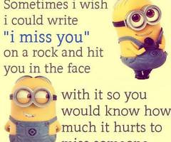 Minions I Miss You Minion i miss