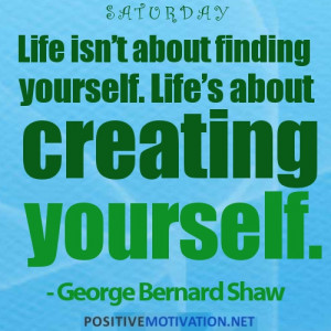 Thought of The Day JUNE 2: LIFE ISN'T ABOUT FINDING YOURSELF