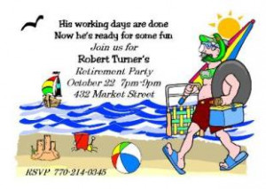 Ready For Fun - Retirement Party Invitations