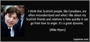 ... Scottish friends and relatives is how quickly it can go from love to