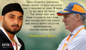 Harbhajan Singh: Greg Chappell destroyed Indian cricket