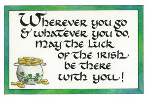 ... Quote Collections :: Irish Greetings :: #323 Luck of the Irish