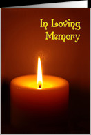 In Loving Memory lit candle remembrance of death card - Product ...