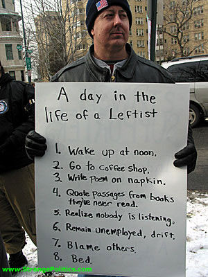 STRANGE PROTEST - A DAY IN THE LIFE OF A LEFTIST