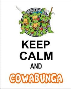 8X10 Keep Calm Teenage Mutant Ninja Turtle Wall Art on Etsy, $10.00 ...