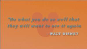Walt Disney Customer Service Training
