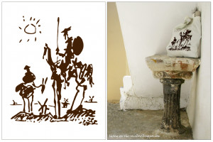 Picasso's sketch for the story of Don Quixote inspired me for creation ...