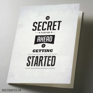 Getting ahead quote greeting card