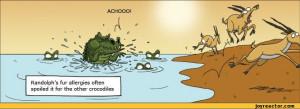... comics,funny comics & strips, cartoons,WUMO,crocodile,allergy