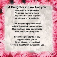 Mother In Law Poems From Daughter In Law Daughter in law poem
