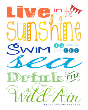 ... Quote by Ralph Waldo Emerson ~ Free Printable | {Five Heart Home