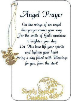 sending an angel prayer your way more inspiration angels prayer ...