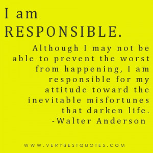 am responsible – Quotes of the day May 23 2012
