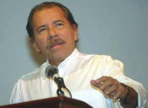 Daniel Ortega Giving Speech