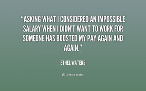 ethel waters quotes today or any day that phone may ring and bring ...