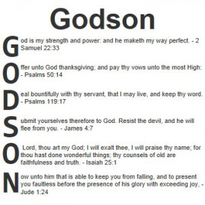 Blessing For A Godson   Acrostic blessings for Godson in the Bible ...