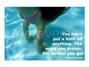 Inspirational Swimming Quotes Michael Phelps No limits - swimming ...