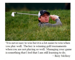 Rory McIlroy on Winning