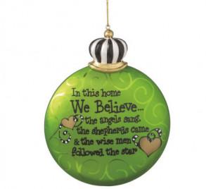 suzy toronto we believe in this house suzy toronto christmas ornament ...