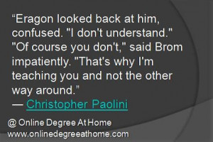 Eragon looked back at him, confused.