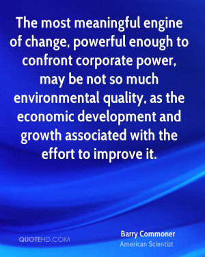 environmental quality as the economic development and growth