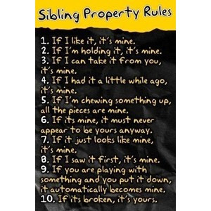 Sibling Property Rules - Saying Images's Tumblr-Best Images & Quotes T ...