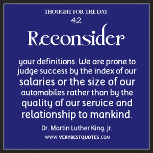 Judge success quotes, thought for the day, service quotes, Martin ...