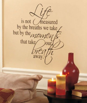 Sentiment Wall Quote is a an easy and touching way to accent a space ...
