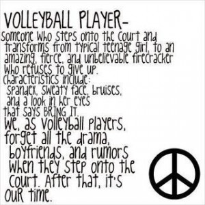 Love Volleyball Quotes Volleyball quotes:
