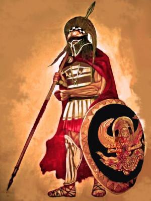 Ancient Greek Spartan Warriors
