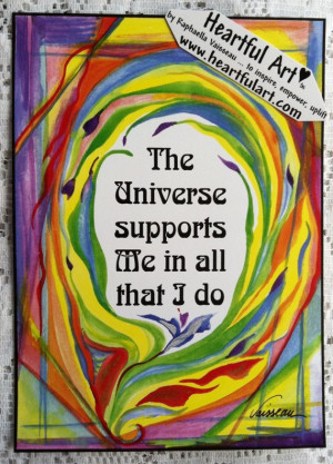 The UNIVERSE SUPPORTS Me Inspirational Quote Motivational Print ...