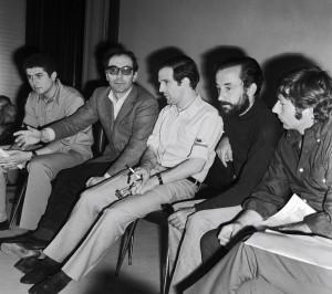 ... Truffaut, Louis Malle, et Roman Polanski Festival de Cannes, mai 1968