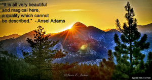 Yosemite – Ansel Adams quote