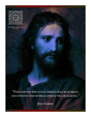 Jesus Christ on Humility Quote Inspirational Digital Poster