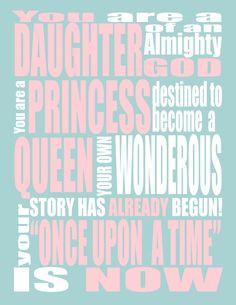 Princess Print - You are a Princess - Your Once Upon A Time - Uchtdorf ...