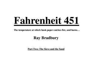 Fahrenheit 451 study questions and answers - part 2 - esacormier by ...